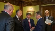 Igor Dodon a avut o întrevedere de lucru cu Dmitri Kozak