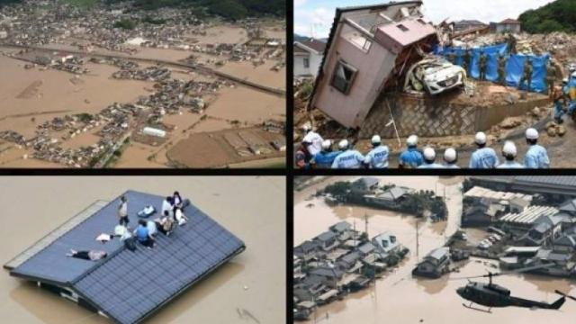 Cel puţin 199 de persoane au decedat din cauza inundaţiilor şi alunecărilor de teren din vestul Japoniei