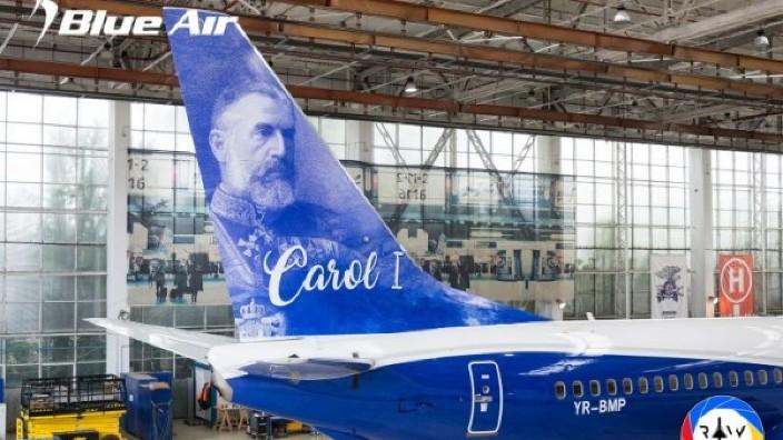 Centenarul Unirii | O aeronavă, personalizată cu portretul regelui Carol I