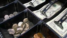 Mai mulți bani încasați din numerar în urma operațiunilor de casă