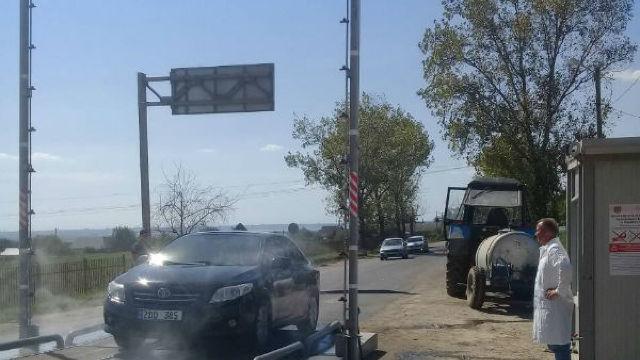 La Giurgiulești a fost instalat un sistem mobil de dezinfecție automat