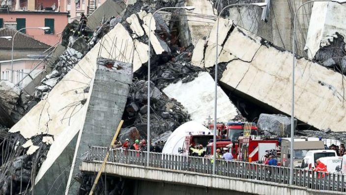 Aproximativ 20 de persoane date dispărute după tragedia de la Genova