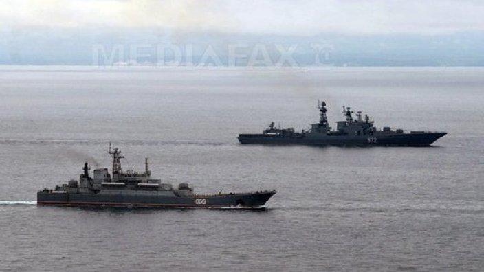 O fregată rusă a lansat o rachetă de croazieră şi a efectuat trageri cu muniţie de război în Marea Neagră