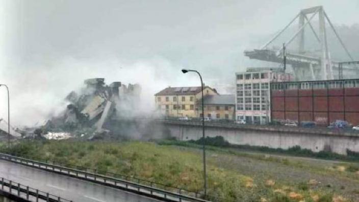 IGSU va contracta o companie specializată pentru a aduce corpul neînsuflețit al bărbatului decedat în urma prăbușirii podului de la Genova