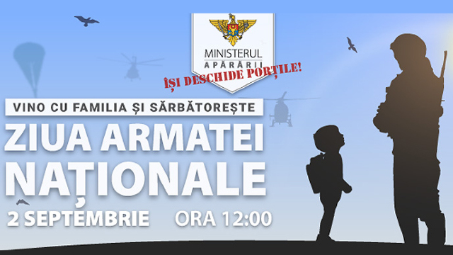 Ziua Ușilor Deschise la Ministerul Apărării, cu ocazia Zilei Armatei Naționale (PROGRAM)
