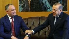VIDEO | Igor Dodon și Recep Tayyip Erdogan au ajuns cu două elicoptere la Comrat
