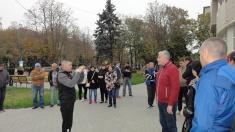 Acțiune de protest și solidarizare cu liderii opoziției, la sediul Judecătoriei Ungheni