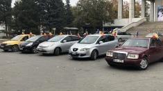 Verde pentru Unire | Un marș automobilistic dedicat Unirii a trecut astăzi prin toate sectoarele Chișinăului