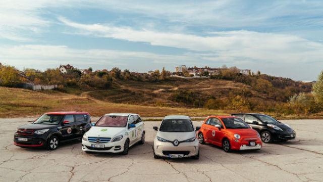 A început primul maraton din R. Moldova al automobilelor electrice, plug-in și hibrid