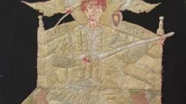 Steagul lui Ștefan cel Mare, expus la Muzeul Luvru din Paris