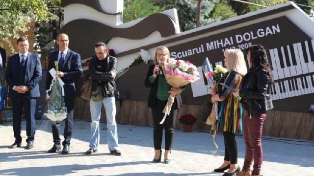 Un scuar, inaugurat astăzi în cinstea compozitorului și interpretului Mihai Dolgan