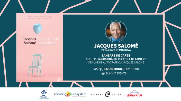 Celebrul psihosociolog francez Jacques Salomé vine pentru prima dată în R. Moldova
