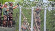 Militarii americani au început construcția gardurilor de sârmă ghimpată la frontiera cu Mexicul