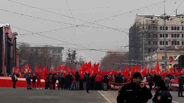 Igor Dodon a lansat campania electorală a PSRM, la un miting în centrul Chișinăului