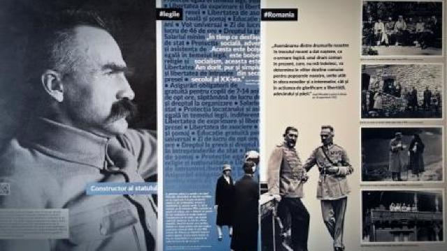 O expoziție dedicată mareșalului polonez Józef Piłsudski, organizată la Muzeul Național de Istorie din Chișinău