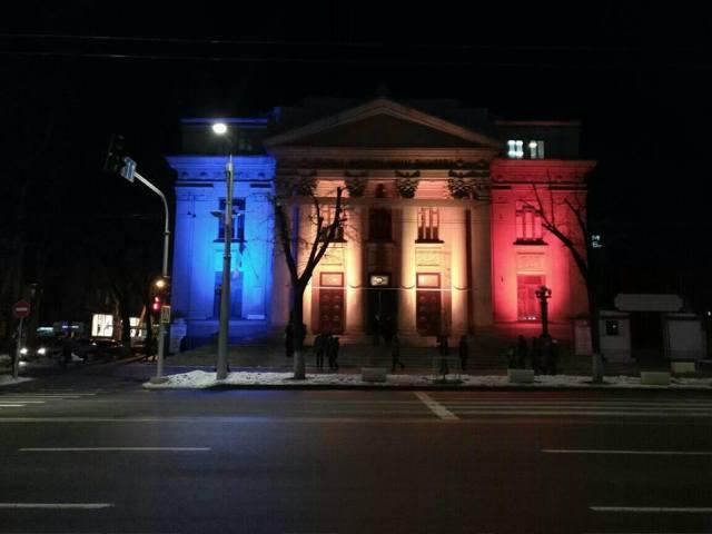 FOTO| Instituții de cultură și de stat din Chișinău au fost iluminate de 1 decembrie în culorile României