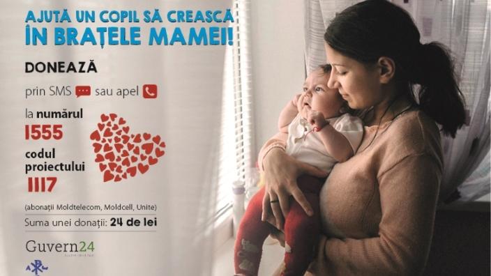 """""""Diaconia"""" a lansat campania de Crăciun """"În brațele mamei"""", în cadrul căreia va colecta fonduri destinate mamelor tinere"""
