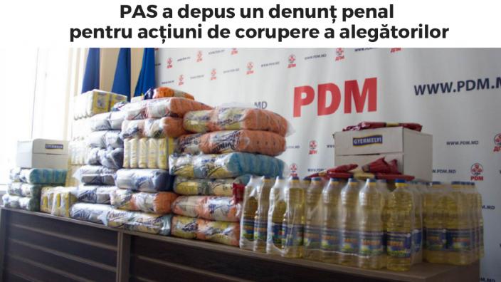 PAS a sesizat organele de drept referitor la posibile acțiuni de corupere a alegătorilor din partea democraților. Reacția PD