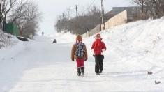 Zeci de copii din raionul Florești nu au ajuns la școală din cauza condițiilor meteorologice nefavorabile