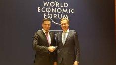 Dialogul politic și relațiile comercial-economice a R.Moldova cu statele lumii, discutate de Tudor Ulianovschi la Davos