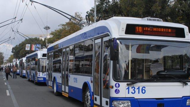 Mai multe rute de troleibuz în Chișinău vor circula pe un itinerar modificat