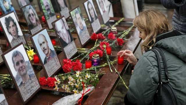 Ucraina îşi comemorează eroii ucişi de regimul Ianukovici în perioada Euromaidanului