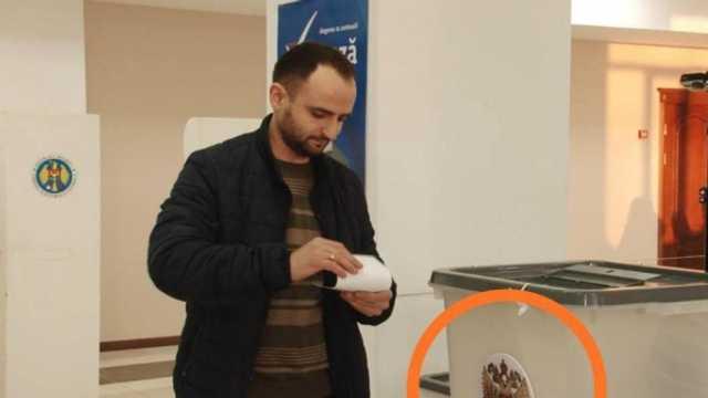 ELECTORALA 2019 | Stema Rusiei în locul celei a Republicii Moldova pe urnă de vot din Găgăuzia