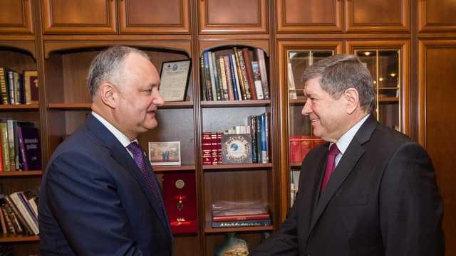 Întrevedere dintre Igor Dodon și ambasadorul R.Moldova la Moscova, Andrei Neguță, în legătură cu inițiativa privind rechemarea diplomatului