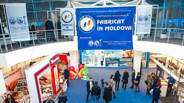 """Număr record de vizitatori la expoziția """"Fabricat în Moldova"""""""