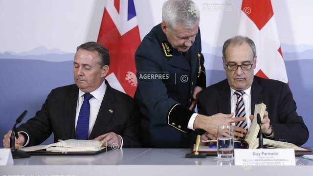 Elveţia şi Marea Britanie au semnat un acord comercial post-Brexit