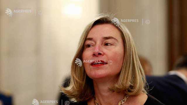 Federica Mogherini reia apelul la o soluţie paşnică la criza din Venezuela pentru a evitara haosul