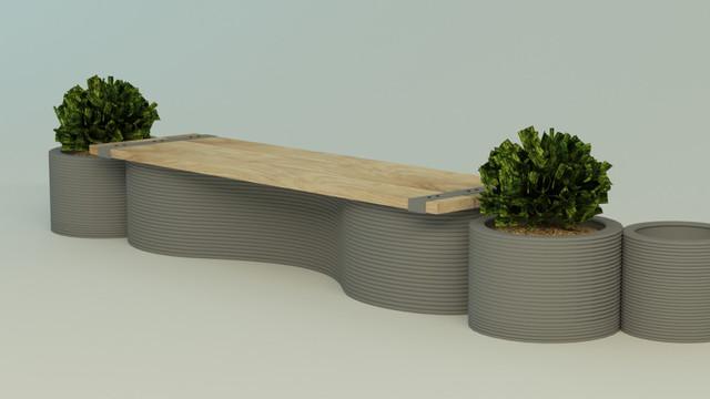 FOTO | În Capitală vor fi instalate bănci de beton create prin imprimare 3D