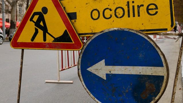 Circulația rutieră va fi SISTATĂ pe mai multe porțiuni a trei străzi din Chișinău, începând de marți, 5 martie
