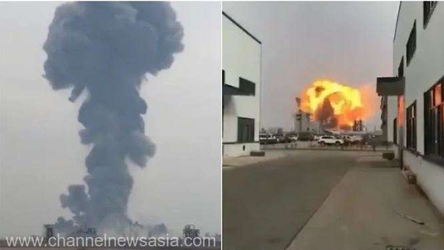 La o uzină chimică din China a avut loc o explozie puternică