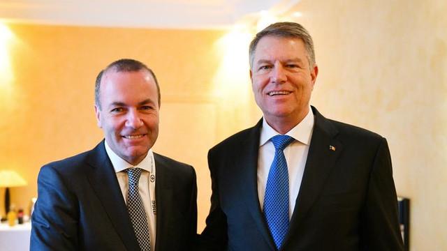 Iohannis și Weber participă sâmbătă la summitul PPE care se desfășoară la București