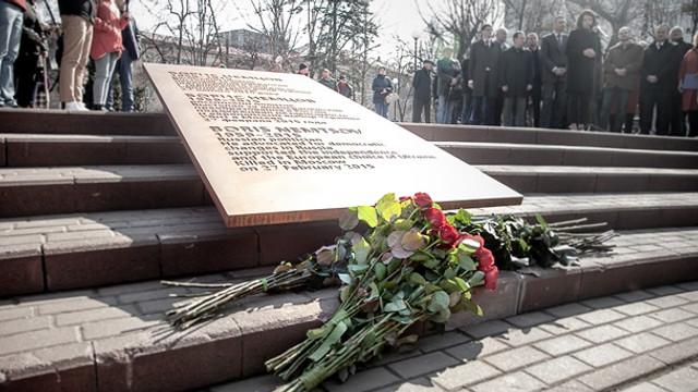 FOTO/VIDEO | Piațeta din fața Ambasadei Rusiei de la Kiev a fost redenumită în memoria lui Boris Nemțov, asasinat la Moscova