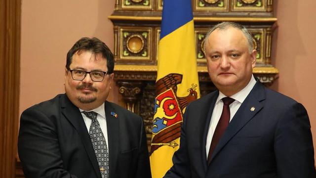 Igor Dodon a avut o întrevedere cu șeful Delegației Uniunii Europene la Chișinău, Peter Michalko