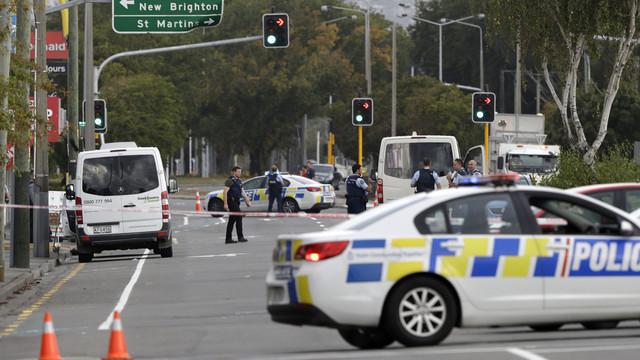 Poliţia neo-zeelandeză crede că atacul asupra moscheilor a fost comis de o singură persoană