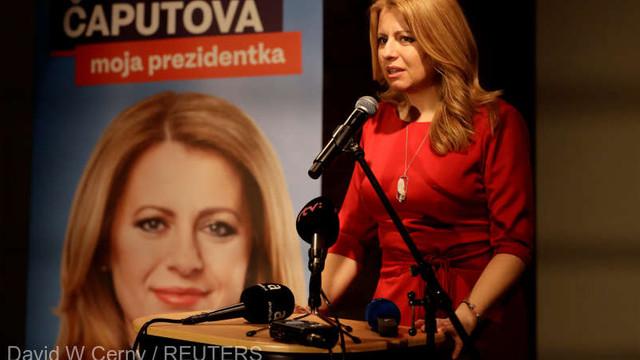 O avocată anticorupție a ieșit învingătoare în primul tur al alegerilor prezidențiale din Slovacia