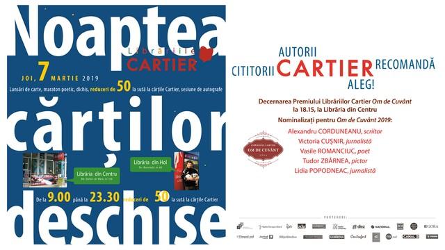 Noaptea cărților deschise, la Editura Cartier