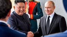 Discuții cu ușile închise, pentru mai bine de două ore, între Vladimir Putin și Kim Jong-un