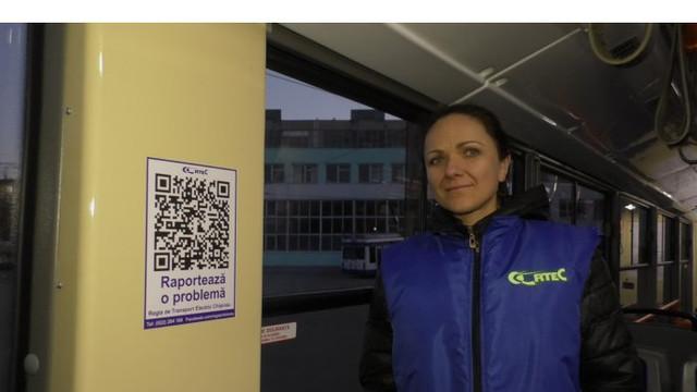De astăzi, pasagerii pot semnala online problemele observate în troleibuzele din capitală