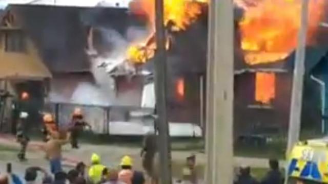 Accident aviatic în Chile: Un avion s-a prăbușit peste o casă