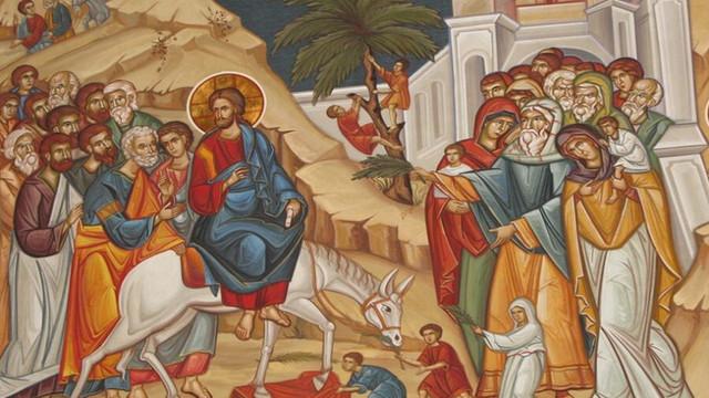 Creștinii ortodocși așteaptă Duminica Floriilor, Intrarea Domnului în Ierusalim
