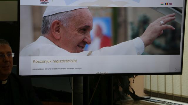 Vizita Papei Francisc în București va putea fi urmărită pe 15 ecrane