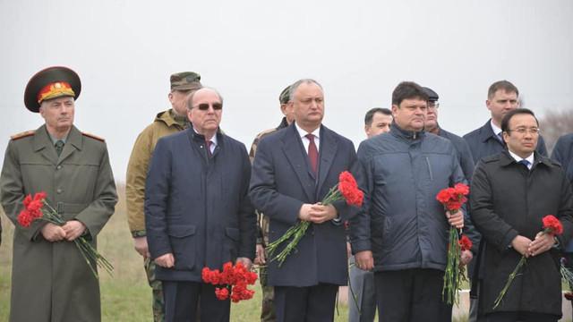 """Ambasadorul Rusiei a început să sărbătorească, cu Krasnoselski și Dodon, """"eliberarea Moldovei de sub ocupația fascistă"""""""