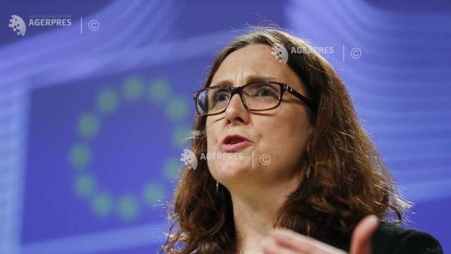 Avertisment al comisarului european Cecilia Malmstrom: UE va aplica măsuri de retorsiune la taxele vamale anunţate de SUA