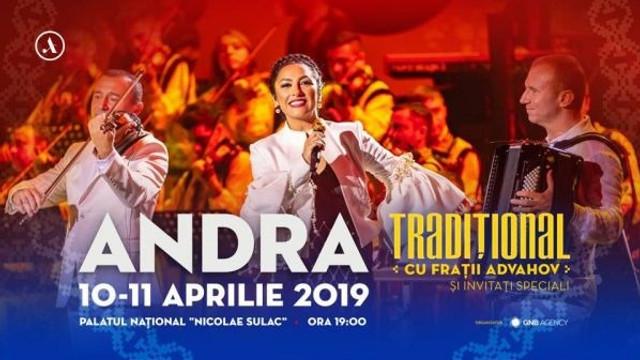 Interpreta română Andra va susține două concerte la Chișinău