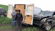 FOTO/VIDEO | Contrabandiști cu țigări din Transnistria în Uniunea Europeană, reținuți de poliție
