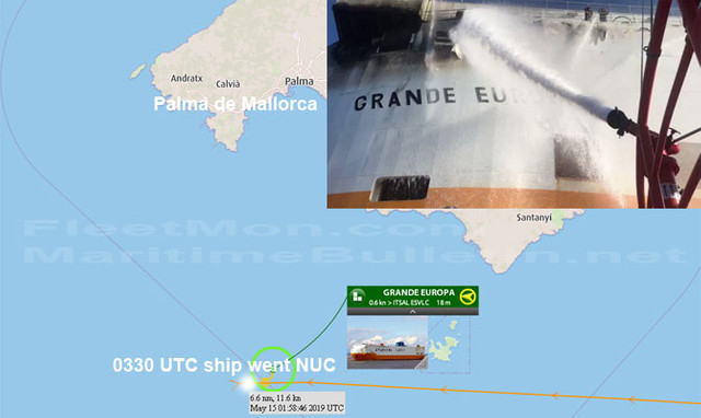 Spania | Incendiu la bordul unui cargou italian ce transporta 1.800 de maşini în largul arhipelagului spaniol Baleare